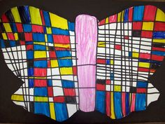 I almost forgot about this project! My kindergarten classes just finished learning about Mondrian and reviewing the primary colors, squares...