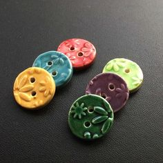 more cute ceramic buttons £5