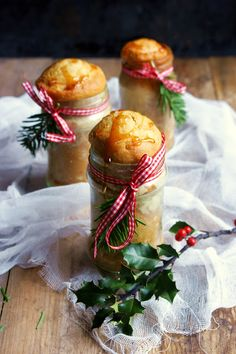 Gingerbread in Jars | Christmas Desserts