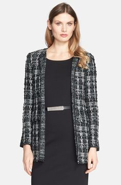 St. John Collection Textured Sparkle Tweed Jacket available at #Nordstrom