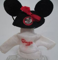 """Vintage Vogue Ginger Doll 8"""" Mickey Mouse Mouseketeer Hat Sweater #VogueDolls #ClothingAccessories"""