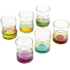 Color Rings Shot Glass Set - why couldn't they big the tumblers!