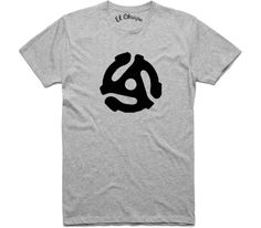 El Cheapo 45 Adapter (Black) Mens Grey Marle T-Shirt
