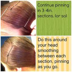 The Messy Vanity: How To: Dooby, Dooby, Doo! (Heatless Hair Straightening)