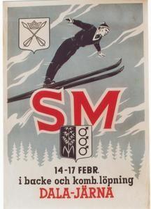 vintage ski poster - Sweden c. 1950