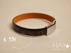 Subtiele armband | Bordeaux rood/ zwart