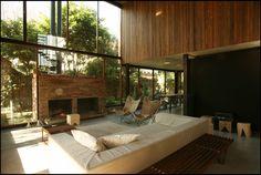 Casa Olivos - ARQA Alejandro Sticotti Interior Design Inspiration, Home Interior Design, Interior Architecture, Raised House, Apartment Floor Plans, Country House Interior, Bedroom Flooring, Tropical Houses, Prefab
