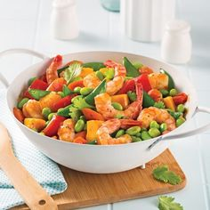 Pizza aux fruits de mer - Les recettes de Caty Pizza Legume, Poke Bowl, World Recipes, Kung Pao Chicken, Seafood, Food And Drink, Chinese, Favorite Recipes, Healthy
