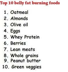 Belly Fat Burning Foods apparel-accessories workout