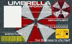 Umbrella Corp ID Template by Juan8T88 on deviantART