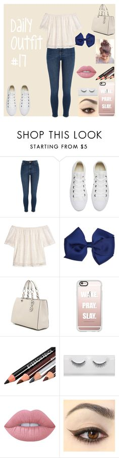 """""""Daily Outfit  #17"""" by niaoffcal on Polyvore featuring River Island, Converse, H&M, MICHAEL Michael Kors, Casetify and Lime Crime"""