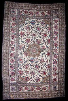 [F]更紗。これはインド更紗と呼ばれる様式だが、更紗の中でも他にも色々な様式があり、国によって特徴も異なる。インドっぽい柄というとまずこういうものが思い浮かぶ。