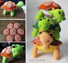 Horgolt teknősök szabad minta