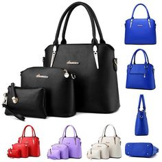 Classic ladies PU Leather shoulder bag and Purse
