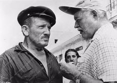 photo Ernest Hemingway Spencer Tracy on the set The Old Man and the Sea 716-06