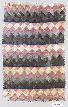 Textile sample Wiener Werkstätte Designer: Unknown Designer 1910-28.