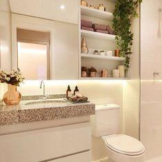 Banheiro lindo Veja + no blog www.construindominhacasaclean.com Siga @construindominhacasaclean @grazielalarainteriores Se você precisa de ajuda para decorar algum ambiente da sua casa, solicite uma consultoria online completa com 3D, valor...