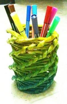 DIY Tutorial DIY Weaving / DIY Newspaper Vase- Twist Weave - Bead&Cord