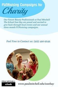 Our Future #Beauty_Professionals at Paul Mitchell The School East Bay are proud and excited to give back through #local_events and our annual three month FUNraising campaigns.