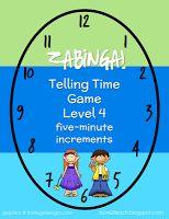 I Love 2 Teach: ZABINGA! Telling Time Game with 5 Levels