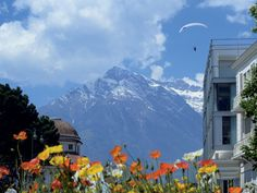 Merano Italy with the dolomites in the background