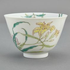 Chinese Famille Rose Glazed Porcelain Cup, Yongzheng Mark and of the Period