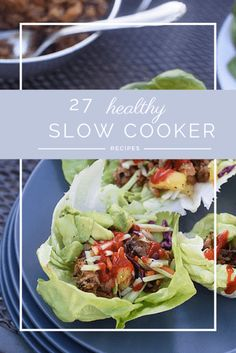 27 healthy slow cooker recipes that will keep your tummy happy and get dinner on the table on time. Finally some healthy crockpot recipes the whole family will love!