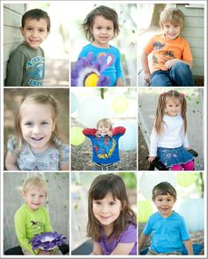 Creative outdoor pre-school portraits by Shutter Starr Photography