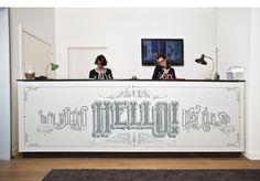 Hello! Mosaic for the Vincci Bit Hotel by Marta Cerdà Alimbau.