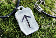 Tiwaz is the rune of the Norse god Tyr.  It is the symbol of a warrior...  A warrior like you...