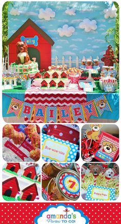 Dog Party Printable - Puppy Party - Dog Birthday - Red Color - Huge Party Set by Amanda's Parties TO GO
