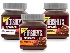 Hershey's Takes On Nutella With New Line Of Chocolate Spreads Hershey Candy, Hershey Chocolate, Chocolate Hazelnut, Chocolate Spread, Printable Coupons, Nutella, Sweet Recipes, Meal Planning, Food And Drink