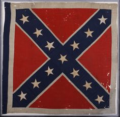 1st Georgia Infantry flag is exhibited in the Atlanta History Center's newest exhibition, Confederate Odyssey.
