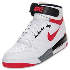 Men's Nike Air Revolution Basketball Shoes | FinishLine.com | White/University Red/Black
