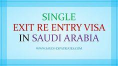 SINGLE EXIT REENTRY VISA KSA