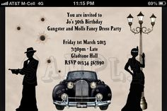 Gangster party invite