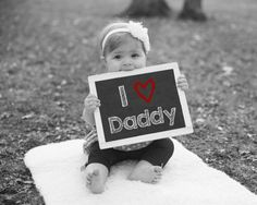 I Love Daddy, Printable Chalkboard Sign, Baby Photo Prop, Gift For Dad, Father's Day Gift, Anniversary Gift For Husband, Valentines Day Gift by PrintsInspiredByMyah on Etsy
