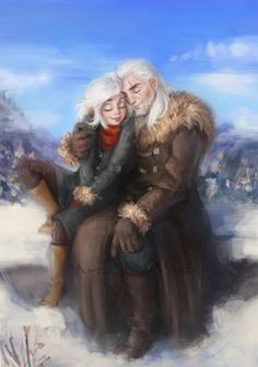 Ciri and Geralt The Witcher Game, The Witcher Books, Witcher Art, Anime Meme, Geralt And Ciri, Character Art, Character Design, New Year Is Coming, Wild Hunt