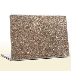 Champagne Gold - Glitter Laptop Skin (extra fine)