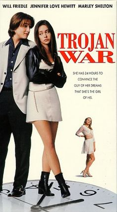TrojanWar starring Jennifer Love Hewitt and Will Friedele. Cute movie from the late 90s, not well known but I love it so much