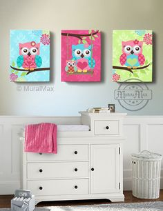 Owl Kids Art, Owl Decor, Art for children Owls Nursery Art, Set of 3 Nursery Canvas Art , Baby Boys Room Art Print Owl Bedroom Decor, Owl Bedrooms, Baby Room Decor, Nursery Decor, Nursery Ideas, Nursery Canvas Art, Owl Nursery, Owl Canvas, Woodland Nursery