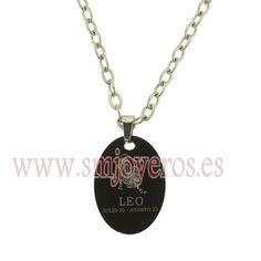 Foto Colgante de Lestor con cadena de acero. Zodiaco Ip. Leo de