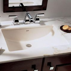 Bathroom Sink, Big Cute And Cool Undermount Bathroom Sink Dimension In The Small Vanity With The Elegant Awesome And Beautiful Design Ideas That Look So Amazing And Great With White And Brown Color With Some Taps And Soap And Mirror ~ Decorate Your Small And Elegant Bathroom With The Great Undermount Bathroom Sink Dimension