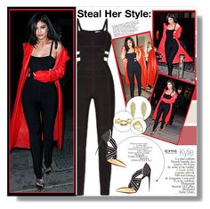 """""""Steal her style: Kylie Jenner"""" by aminkicakloko ❤ liked on Polyvore featuring Hervé Léger, Bela and Claudia Schiffer"""