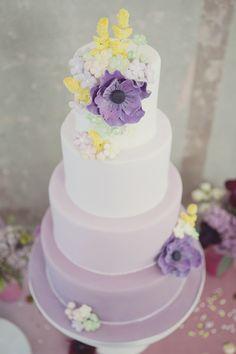 Gorgeous ombre cake by The Sugared Saffron Cake Co.