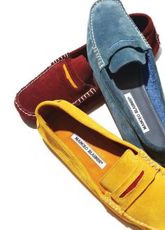 """Manolo Blahnik """"The Driver"""" loafer."""