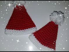 DIY Natale - cappellino di Natale all'uncinetto - DIY Christmas - crochet christmas hat - YouTube