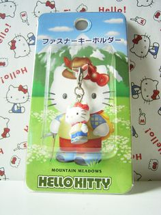 HELLO KITTY GOTOCHI Mascot Figure Charm MOUNTAIN MEADOWS JAPAN Only! Sanrio 2000 1.8cm 19.99 (1)