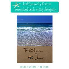 Table Numbers-Beach Wedding