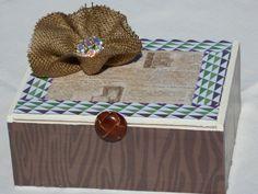 Decorative Storage Box, Upcycled Storage Box, Gift Box, Jewelry Box, Trinket Box, Recycled Cigar Box by KimsCountryCorner on Etsy